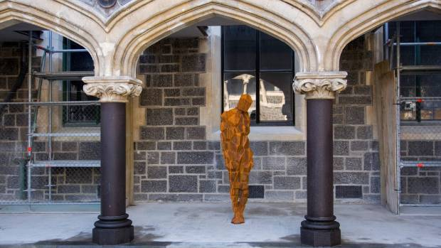 The second part of Sir Antony Gormley's Stay, installed at the Christchurch Arts Centre, is just one of the many art ...