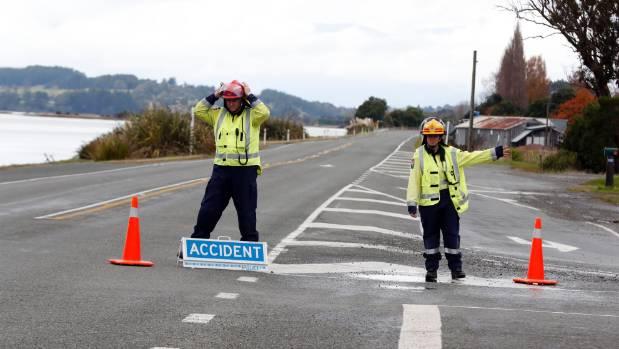 The scene of Zoe Bishop's fatal accident on the Coastal Highway near Motueka.