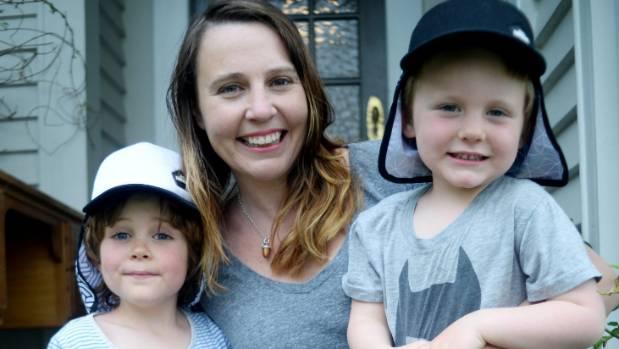 Emma Whitlock's boys Louie, 5, left, and Arlo, 3, do their bit to eradicate red necks.