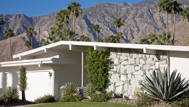 Agave, cacti and palms all flourish in Palm Springs thanks to the desert climate.