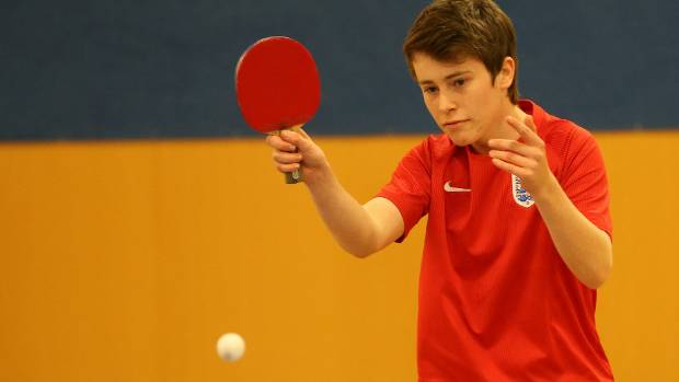 Table tennis nominee Alex Kennedy in action.