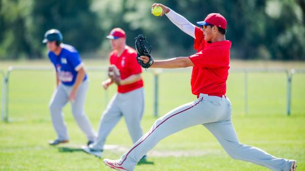 Marlborough Sports Awards softball nominee William Macdonald fires down another pitch.