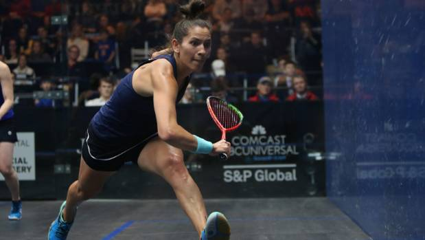 Joelle King beat Alison Waters to advance to the semifinals of the US Open squash tournament.