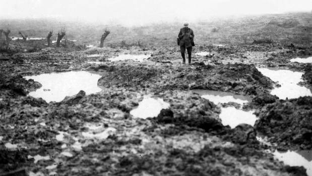 The muddy hell that symbolises the Battle of Passchendaele.