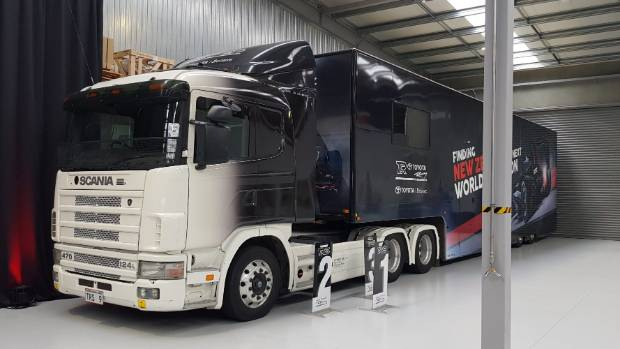 Toyota Racing is looking for the next world champion. It says so on the truck.