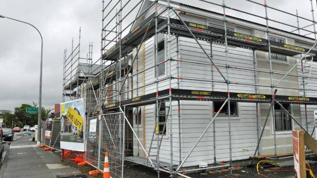 Lower Hutt residents opposing infill housing used this house, being built in the central city suburb of Boulcott, as ...