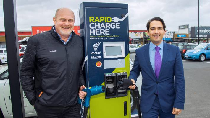 Vector S South Auckland Electric Vehicle Charging Stations