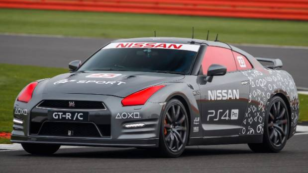 Nissan GT-R/C capable of 315kmh  - all courtesy of a PS4 game controller.
