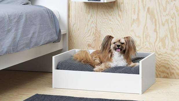 Lurvig pet bed with pad, US$37.98 (NZ$53.67).