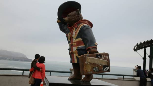 Paddington Bear is so famous in Peru, they build statues to him.