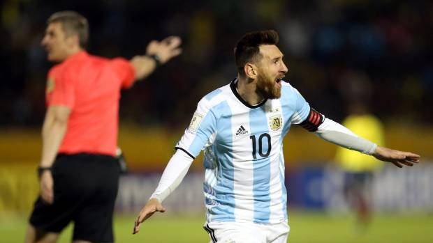 It's a hat-trick for Lionel Messi in Quito and Argentina are into the World Cup finals.