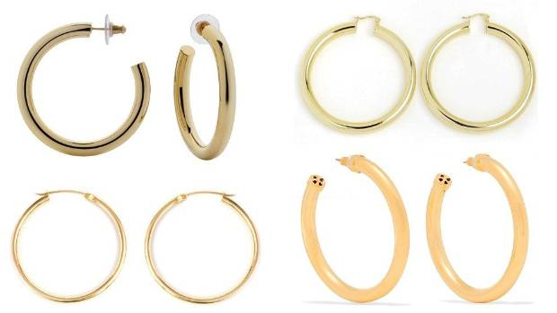 Luxe to less Gold hoop earrings