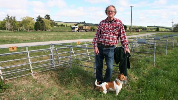 Paul Mutch, chief executive of the East Otago Field Days, with his dog Charlie at the new venue for this year's event on ...