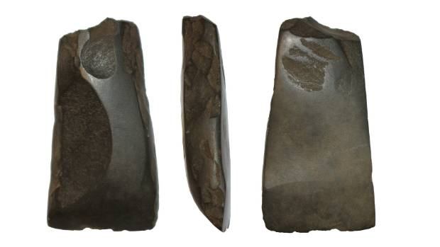 A Māori adze unearthed during excavations of the Waikanae Golf Club's ninth hole in early October.