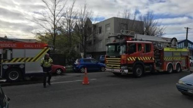Firefighters are battling a blaze in the Christchurch suburb of Addington.