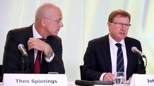 New Zealand's highest paid CEO, Theo Spierings, alongside the top earning chairman, John Wilson.