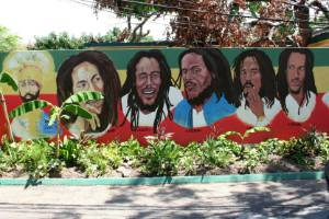 Bob Marley's house museum in the Kingston.