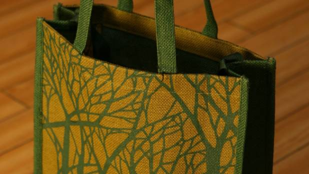 Jute bags have become a popular option for shoppers.