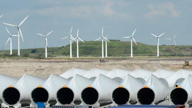 Wind farms are becoming increasingly common in Europe.