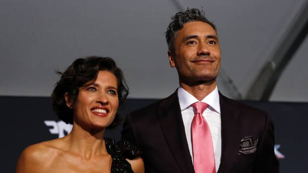 Kiwi director Taika Waititi and Chelsea Winstanley at the premiere LA last night.