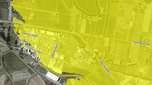 The tsunami inundation map, with the added LiDAR layer, engulfs the Riverlands Industrial Estate.