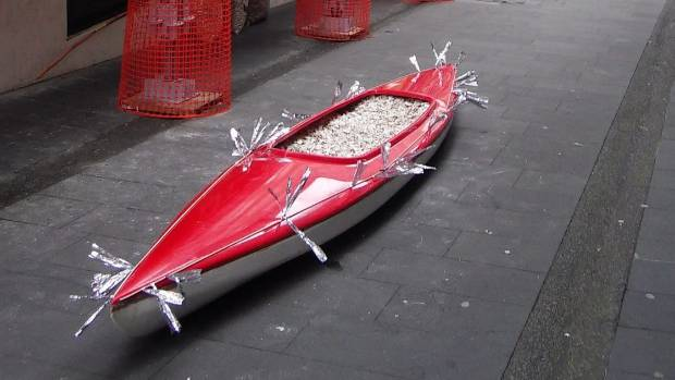 'ET the roaring red kayak' went missing from Durham Lane on Sunday night.