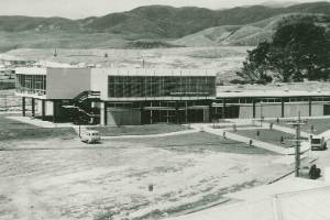The Porirua Licensing Trust's Cannons Creek Tavern under construction in 1965. It was forced to close in 1999 during one ...
