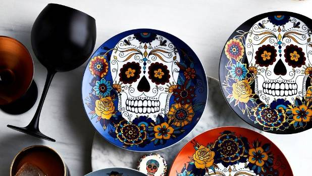 Day of the Dead inspired tableware from Williams Sonoma www.williams-sonoma.com