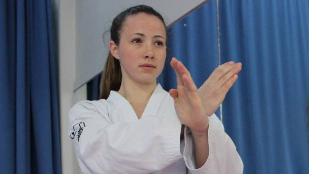 Roisin Giles was one of the gold medal winners for New Zealand at the opening day of the ITF taekwondo world ...