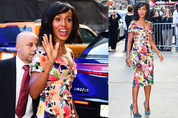 THE GOOD: Kerry Washington's floral Cushnie Et Ochs makes us happy - the print is fresh (the over-saturation of those ...