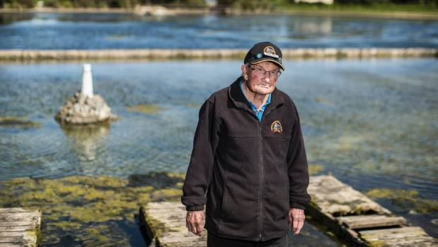 Noel Dyer is one of the Modellers Society members waiting on the council to find a solution to the pond's weed and algae ...