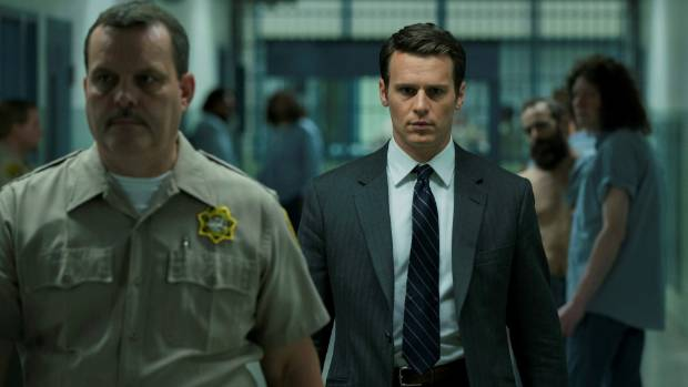 Jonathan Groff plays FBI Agent Holden Ford on Mindhunter.