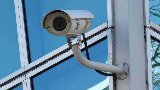 A CCTV camera at the University of Otago campus.