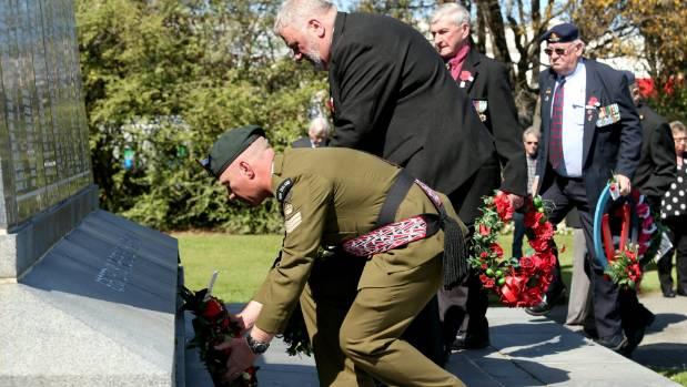 Passchendaele commemoration at Invercargill Cenotaph.