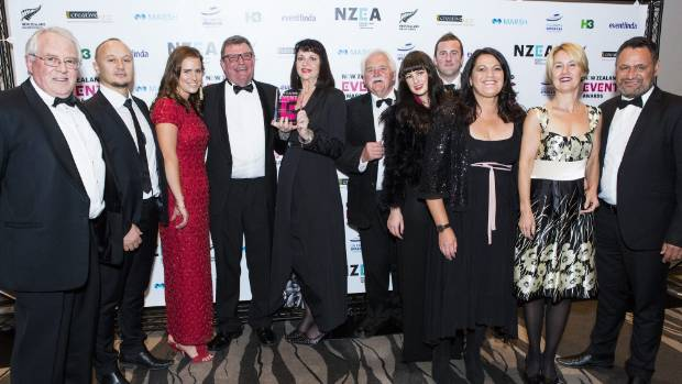 The Winning Womad team at the 2017 New Zealand Event Awards, held in Auckland on Wednesday, October 11. From left:  ...