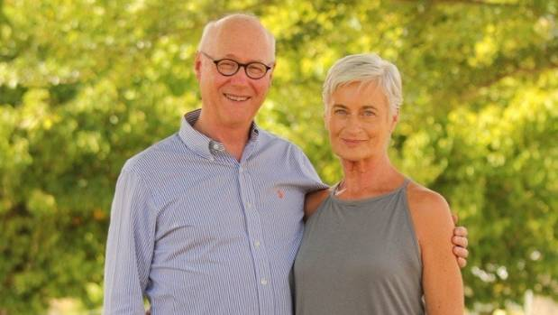 Breast cancer survivor Fay Sowerby now, with her husband, Warren.