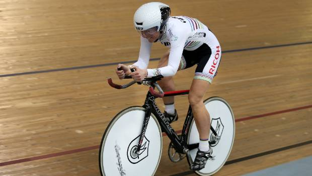 Southland masters cyclist Erin Criglington won a gold medal in the scratch race.