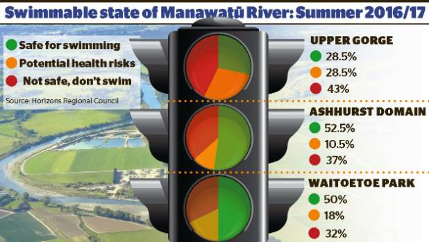 A wet summer often ruined the Manawatu River as a swim spot.