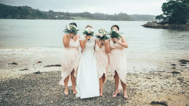 Helen and her bridesmaids.
