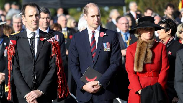 Prince William, Princess Astrid of Belgium and guests attend the New Zealand commemoration for the Battle of ...