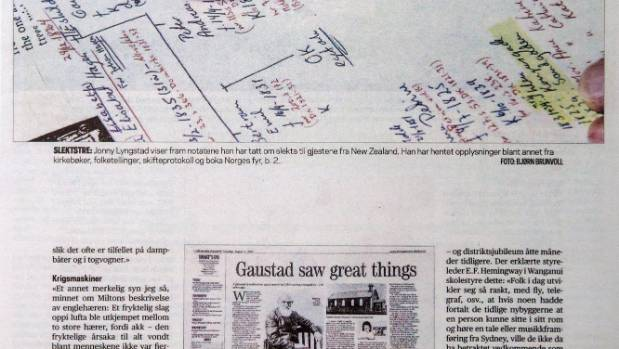 Part of the Gaustad family tree, and the Memory Lane story that sparked a journey.