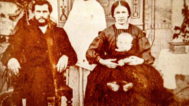Christopher and Anne Gaustad and their infant son, in India.