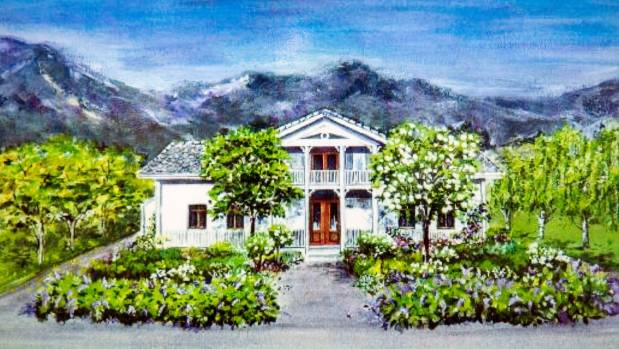 An artist's impression of Anne Gorine Oulie's family home in Norway.