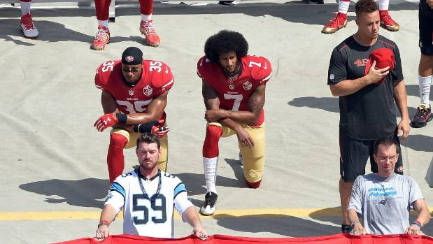 Does the American president not have more important things to worry about than people kneeling during the national anthem?