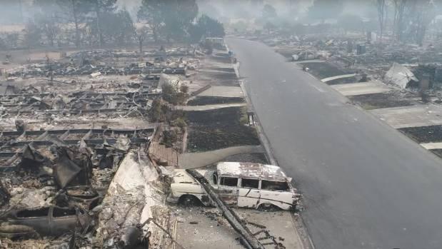 A razed neighbourhood in Santa Rose, California.