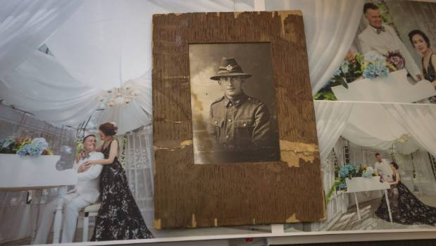 A photo of Seamus Robertson's grandfather, Angus McIver, who fought in the World War I battle of Passchendaele.