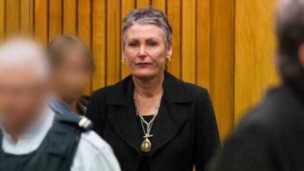 Susan Mouat at her sentencing in the High Court at New Plymouth.