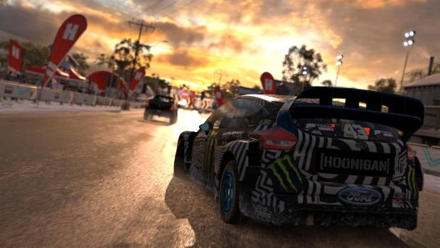 A complete overhaul of Forza's lighting effects can create some stunning backdrops for races - particularly at sunrise ...