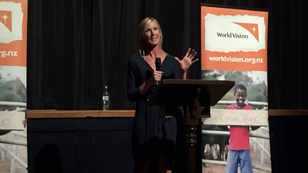 Journalist Rachel Smalley talks about her experiences in Syria during an event in Timaru in 2016.