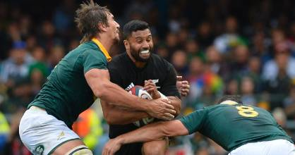 Lima Sopoaga replaced Beauden Barrett late in the first half of the test against the Springboks on October 8.